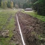 Construction d'une ligne électrique sous-terraine