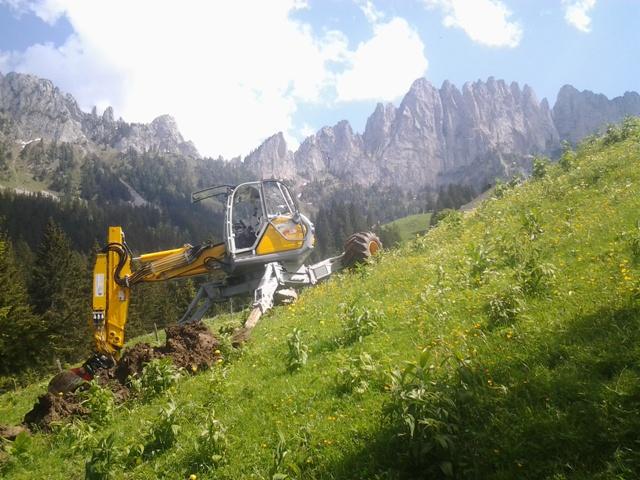 travaux en montagne